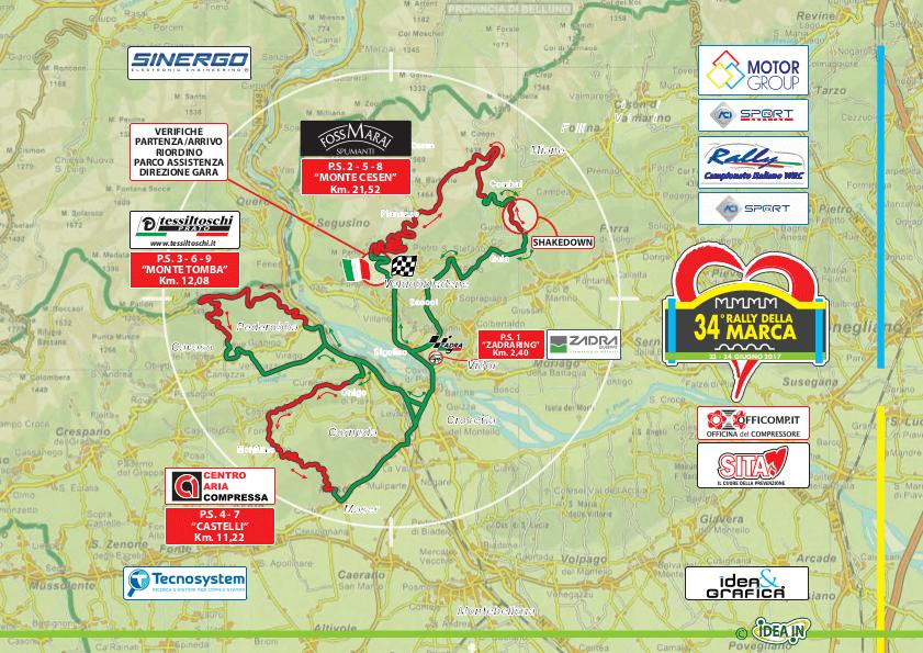 Mappa Prove Speciali Rally Della Marca