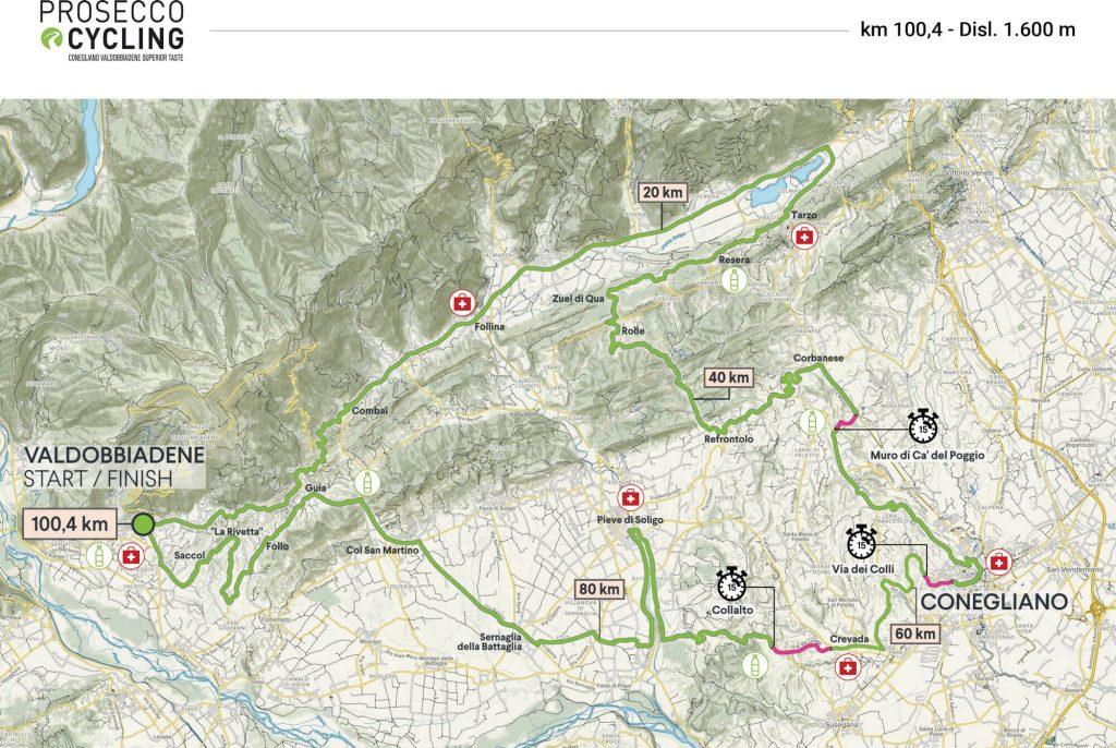 Prosecco Cycling 2021 Valdobbiadene Planimetria